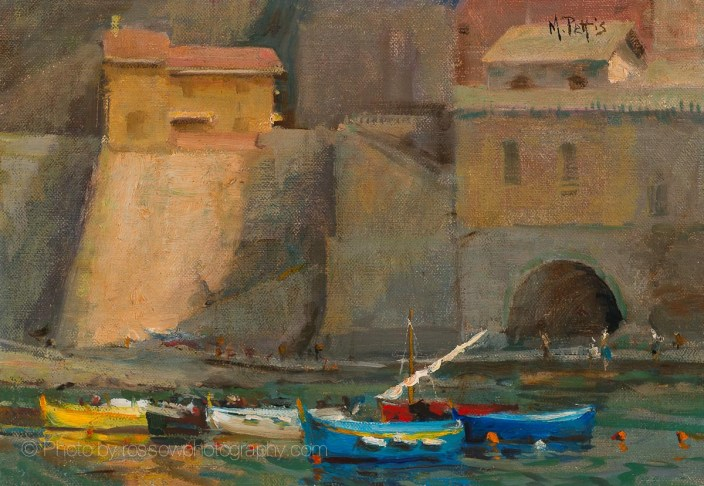 Artwork Photography of Vernazza Boats