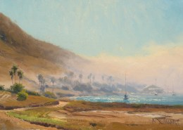 Noonday Fog, Two Harbors 8x12