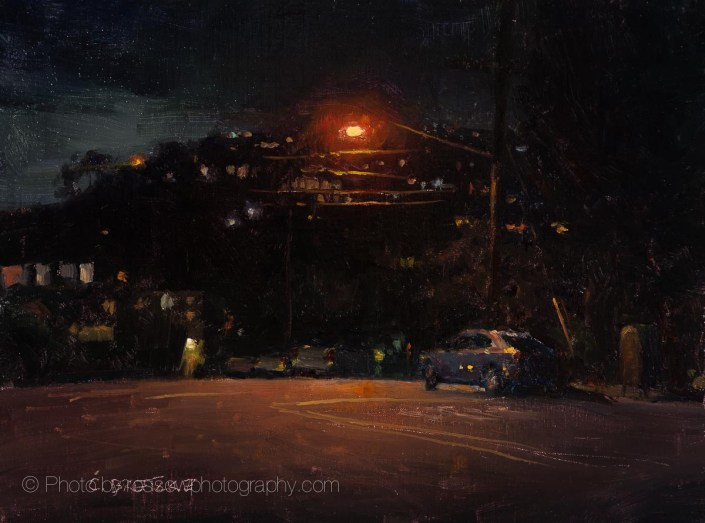 Cliff Drive After Dark 9x12