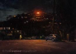 Cliff Drive After Dark 9x12
