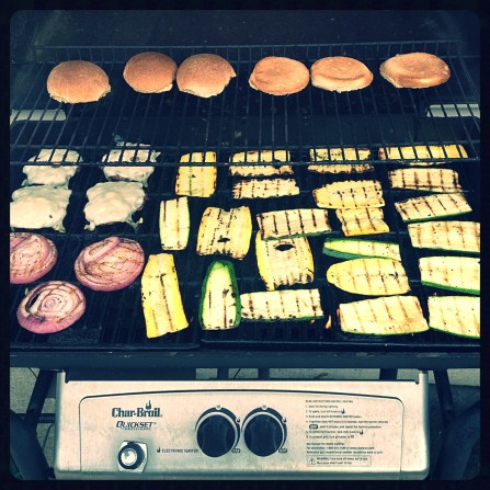 Full grill.