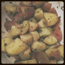 The potatoes. I ate the whole bowl...almost.