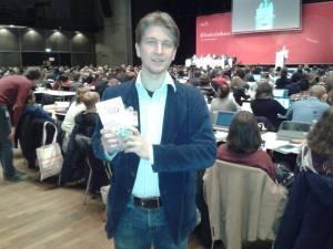 Gegen TTIP und CETA auf dem Bundeskongress der Jusos in Bielefeld (am 05.12.14).