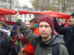 Rote Linien Aktion in Paris: Für mehr Klimaschutz.