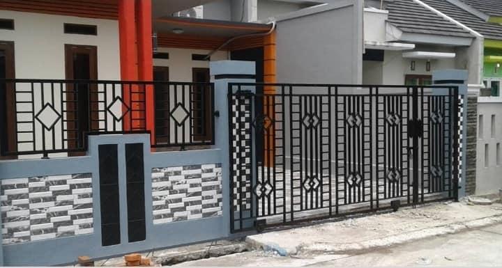 Contoh pagar besi rumah minimalis murah