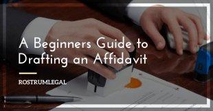 Drafting an Affidavit