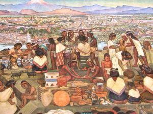 El tianguis prehispánico, foto del Museo Nacional de Antropología