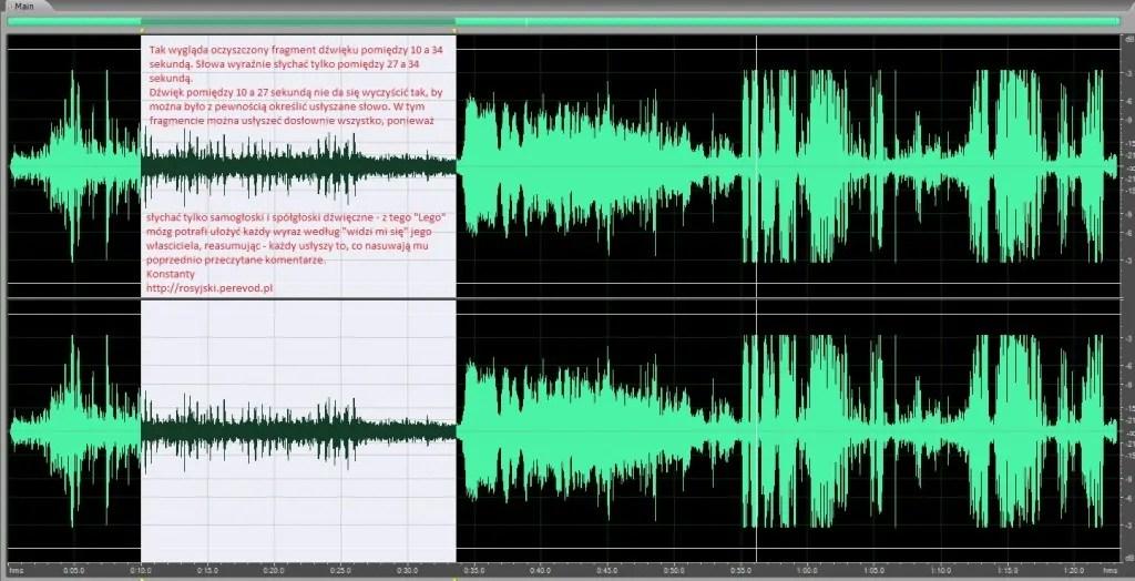 Tłumaczenie filmu z pierwszych minut po katastrofie samolotu prezydenckiego