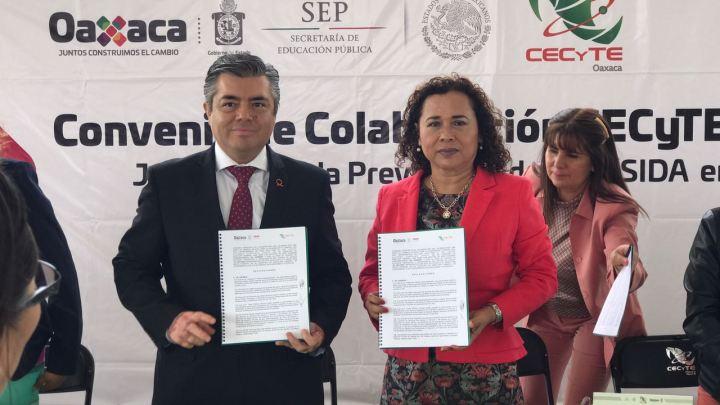 Firman convenio de colaboración Cecyteo-Coesida, para difundir campañas de prevención