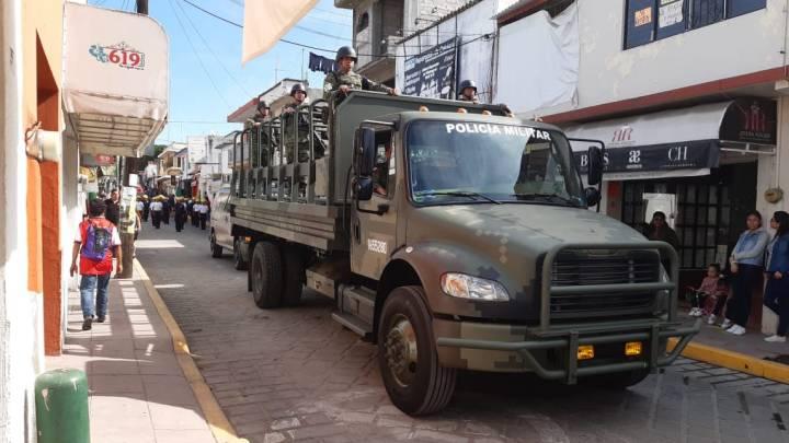 Por primera vez participan elementos de la Guardia Nacional en desfile de Huajuapan