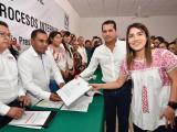 En acto público y plena cuarentena, PRI realiza registro de candidatos a dirigencia estatal