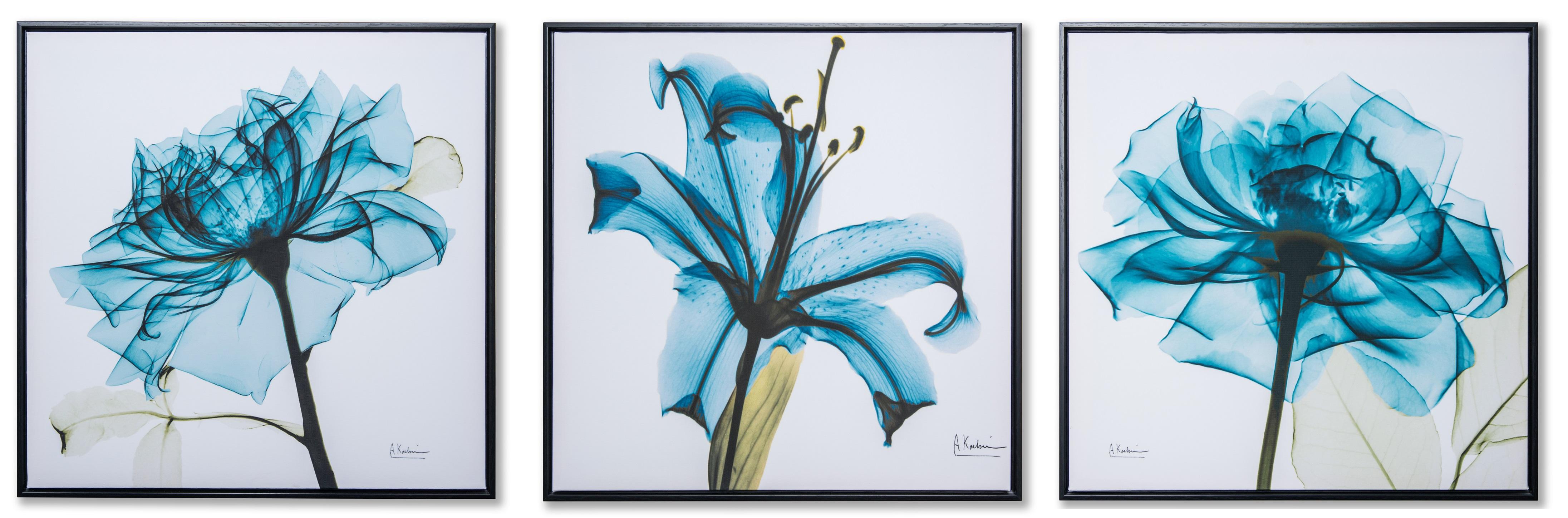 Картина в квадратній рамі | Синя квітка
