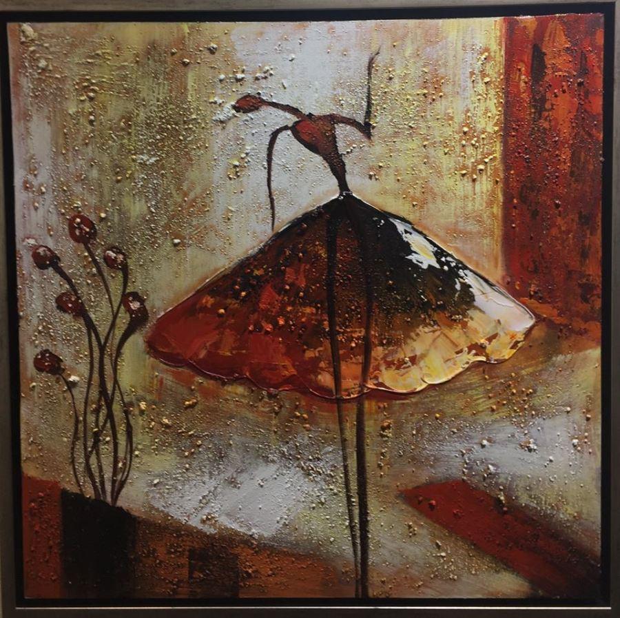 Картина в квадратной раме   Балерины бабочки