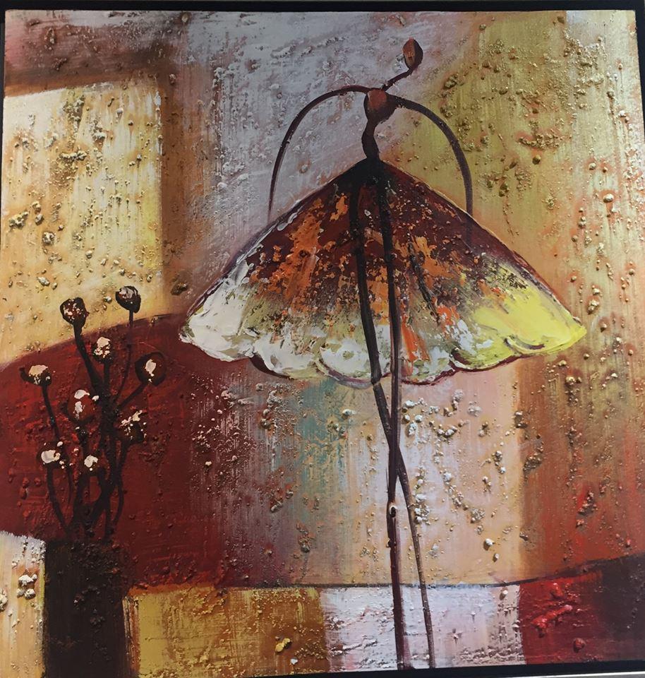 Картина в квадратной раме | Балерины бабочки
