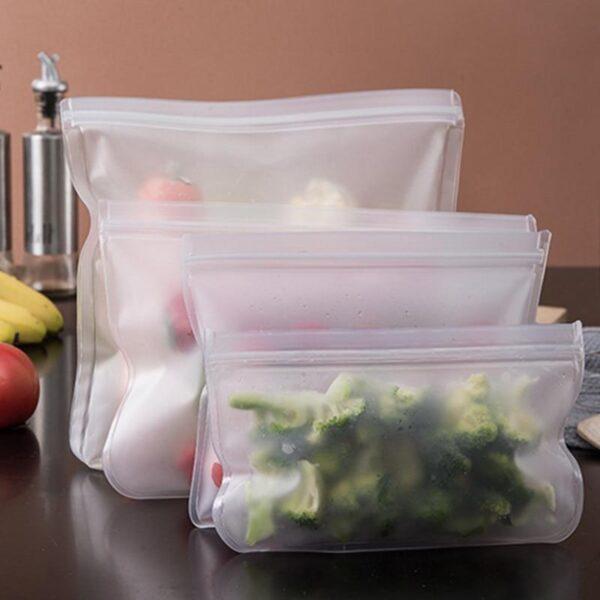 Reusable Seal Silicone Food Fresh Bag