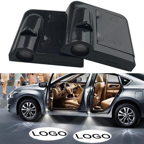 2pcs Car Door Logo & Led Light