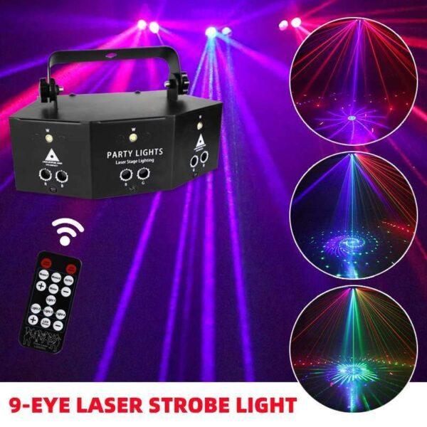 Nine eye Laser Strobe Light