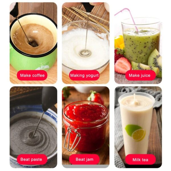 Handheld Milk Frother, Electric Hand Foamer Blender for Drink Mixer