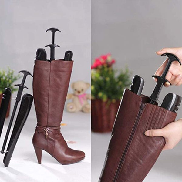 Boot Shaper, 2 Pieces Black Inserts Knee High Tall Boots Support Holder