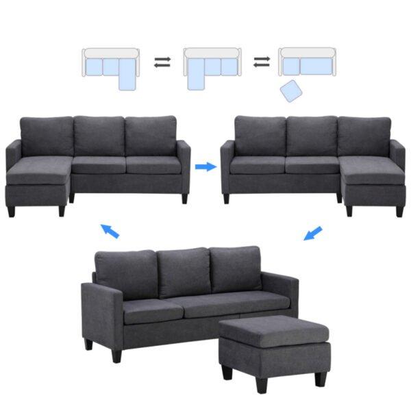 Double Chaise Longue Combination Sofa