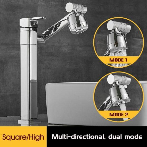 Multi-directional Three-dimensional Rotating Faucet