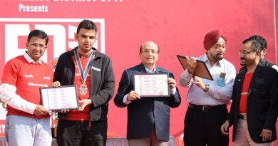 From left: RSA Chief Coordinator Rtn Hemang Jangla, DRR Om Chawla, PRID Ashok Mahajan, DGN Harjit Talwar and RSA Avenue Chair Rajindra Unnikrishnan.