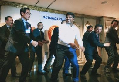 Indian DRR has Japanese Rotaractors  jiving to a Rajini hit