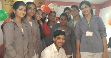 Rotaractors at the women's wellness camp.