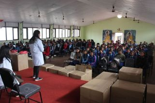 sanitary pad distribution rc dhulikhel nepal 6