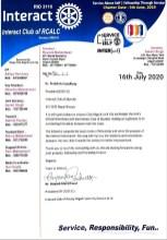 Three Letterhead Exchanges Interact Club of Skyrider (1)