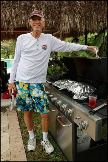 Ken Davis BBQing