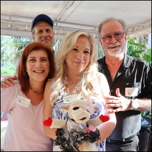 Lorraine Marks-Field with Lambchop & husband Bob and Sonny & Melissa Tannenbaun