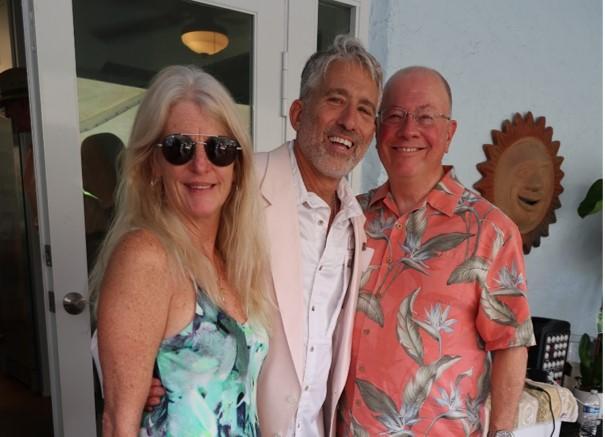 Hosts Trisha & Neil Saffer with Club President Donn Londeree