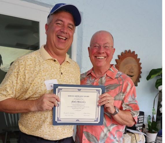 John Mollica, Jr. – Service Above Self Award