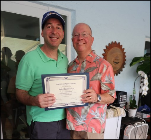 Orin Rosenfeld – Service Above Self Award