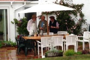 Host from Girvan Rotary Jimmy Flowerdew, President Ayr Rotary Douglas Haddow & Johnnie Kean