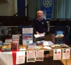 Neil Beattie at the Christmas card and ACP book table