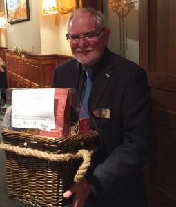 Johnnie Kean, winner of the top raffle prize
