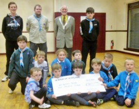 Cheque-presentation-to-43rd-Scouts-Kincaidston