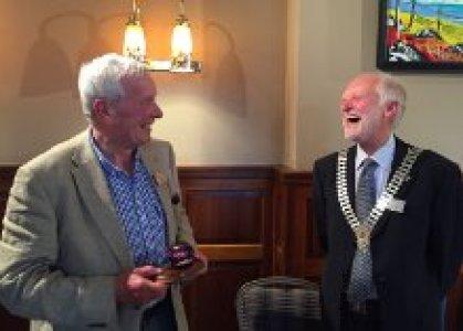 John Ewing receiving his Rotarian of the Year award