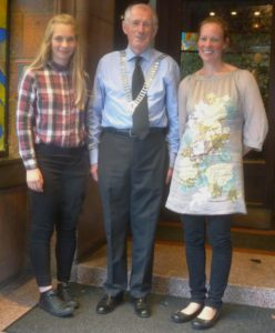 President Harry, flanked by Alanya & Dawn Dalgleish