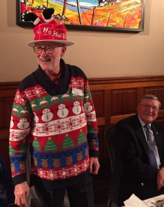 Past President Douglas getting into the Christmas spirit