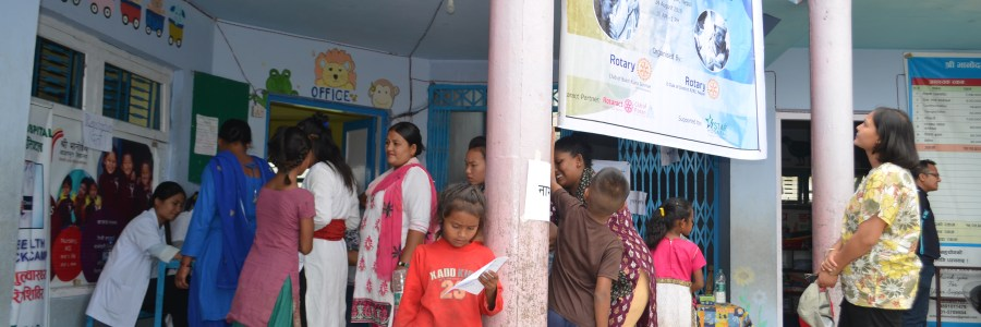 Rotary Health Camp- Shree Banodaya Primary School Sanogaun Lalitpur, Nepal .