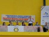 Cúgula Guedes fala pelo Rotary sobre os projetos educativos especialmente focados na criança.