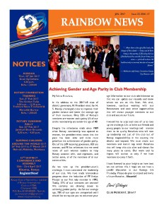 thumbnail of RAINBOW NEWSLETTER ISSUE 23 – JANUARY 2017
