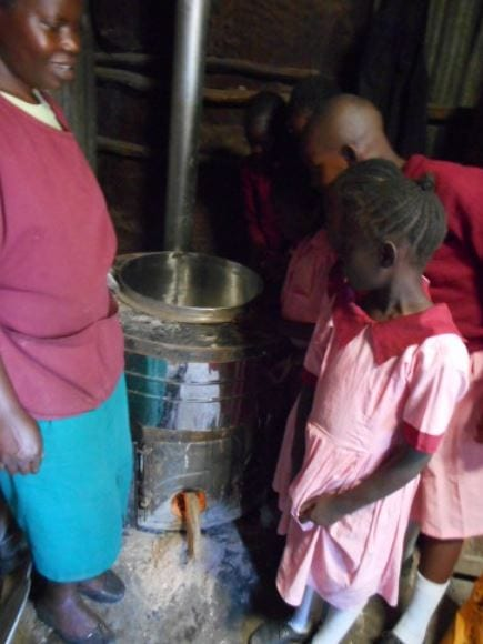 The Jiko stove will help to reduce the fuel costs for the school.