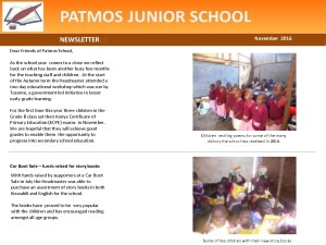 thumbnail of PATMOS NEWSLETTER Nov 2016