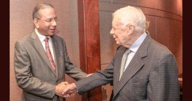 RI President K R Ravindran with former US President Jimmy Carter.