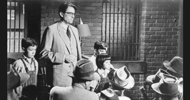 Gregory Peck playing the role of Atticus Finch in the film To kill a Mockingbird.