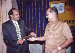 PDG Sam Movva and PRIP Kalyan Banerjee at a TRF event.